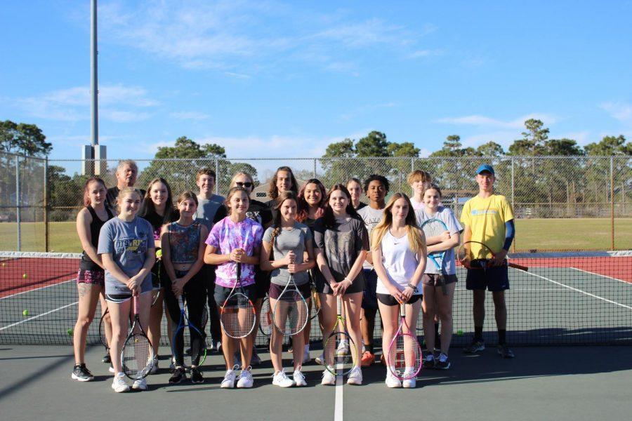 The 2020-2021 NHS Tennis Team