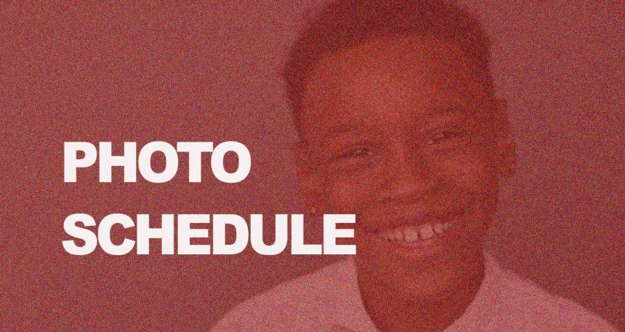 Underclass Photo Schedule